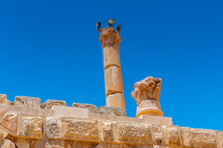Zeus temple of the Ancient Roman city of Gerasa, modern Jerash, Jordan