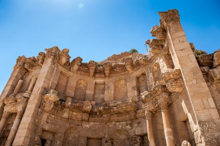 Tetrapylon, Ancient Roman city of Gerasa of Antiquity , modern Jerash, Jordan