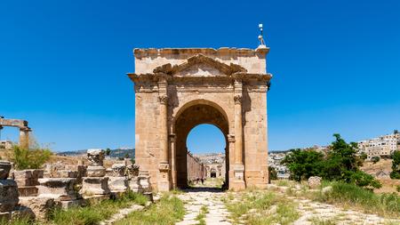 North Gate, Ancient Roman city of Gerasa of Antiquity , modern Jerash, Jordan