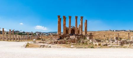 Artemis Temple, Ancient Roman city of Gerasa of Antiquity , modern Jerash, Jordan