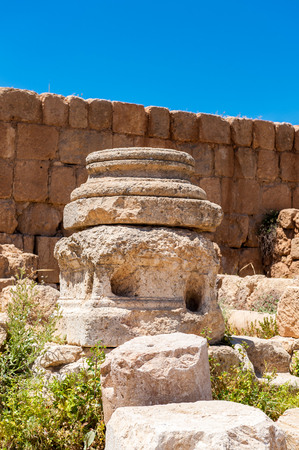 Ruins of Gerasa, modern Jerash, Jordan Stock Photo