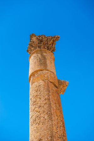 Ruins of Gerasa, modern Jerash, Jordan Stock Photo