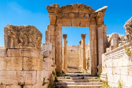Ruins of Gerasa, modern Jerash, Jordan Archivio Fotografico