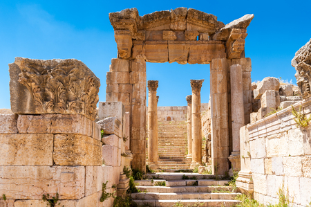 Ruins of Gerasa, modern Jerash, Jordan Foto de archivo