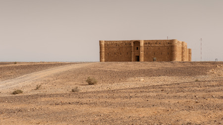 Qasr Kharana, one of the best-known of the desert castles in eastern Jordan