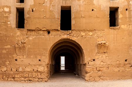 Interior of the Qasr Kharana, one of the best-known of the desert castles in eastern Jordan