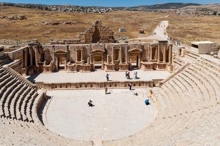 South Theater, Ancient Roman city of Gerasa of Antiquity , modern Jerash, Jordan