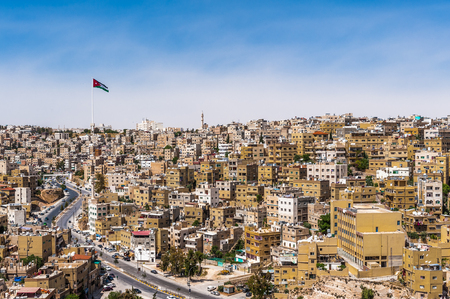 Panorama of the city of Amman, Jordan