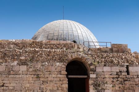 Umayyad Palace at the Amman Citadel (Jabal al-Qal'a), a national historic site at the center of downtown Amman, Jordan. Reklamní fotografie