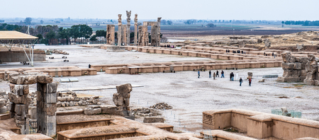 Panorama of the Ancient city of Persepolis, Iran.