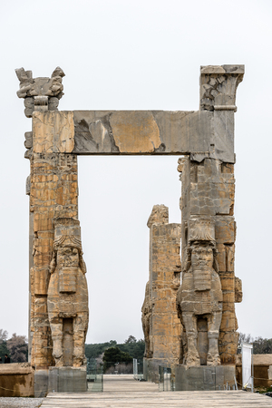 New gate of Persepolis, the ceremonial capital of the Achaemenid Empire.