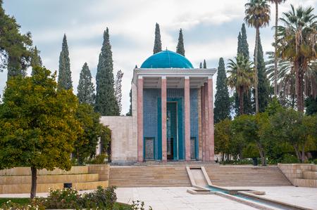 Saadi의 묘소 (Shiraz, Iran). 스톡 콘텐츠