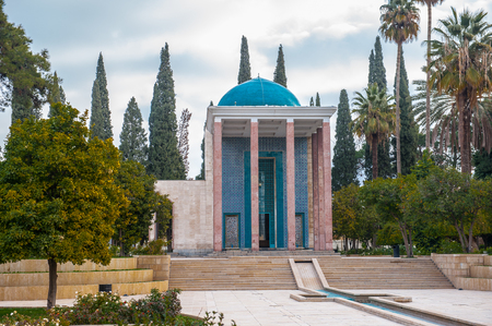Saadis mausoleum in Shiraz, Iran. 版權商用圖片