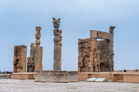 Gateway of All the nations in the ancient city of Persepolis, Iran. UNESCO World heritage site Editorial