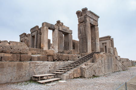 The Hundred colums hall in (Apadana of Xerxes) in the ancient city of Persepolis, Iran.