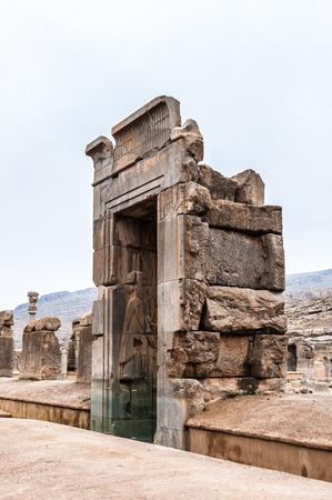 Ancient city of Persepolis, Iran. Apadana of Xerxes. Stock fotó