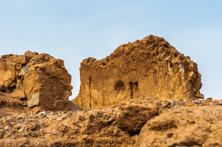 Cage of vultures of the Zoroastrian Towers of Silence in Yazd, Iran