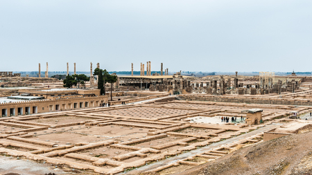 Panorama of the ancient city of Persepolis, Iran. Stock Photo