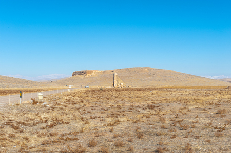 Desert near the ancient Persian city of Pasargad, Iran. UNESCO World Heritage Stock Photo