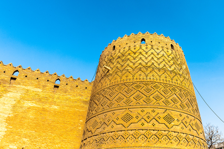 Arg of Karim Khan, a citadel, Shiraz, Iran. It was built as part of a complex during the Zand dynasty and is named after Karim Khan. Irans Cultural Heritage Organization.