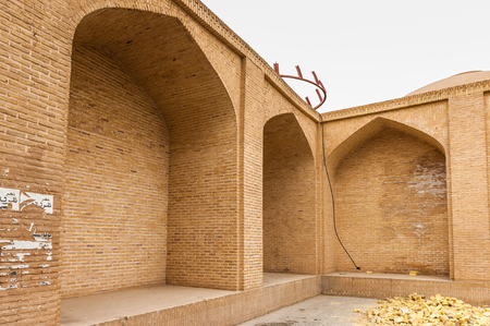 Block of the ancient clay houses in Iran