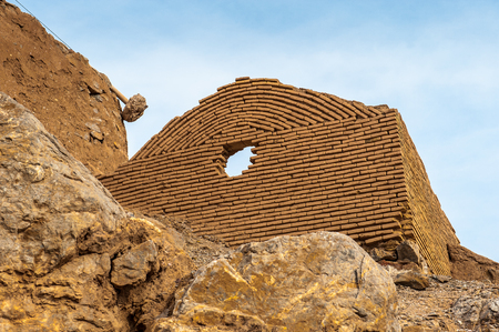 Tower of Silence in Yazd, Iran, built according to the Zoroastrian tradition on the top of the mountains