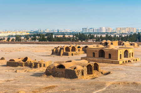 Panorama of the Zoroastrian city in Yazd, Iran