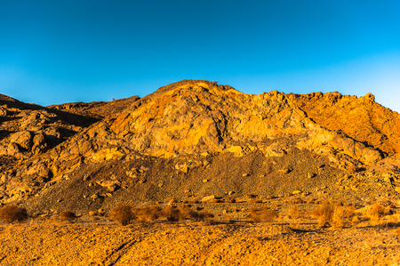 Landscape of the rock formations in Iran