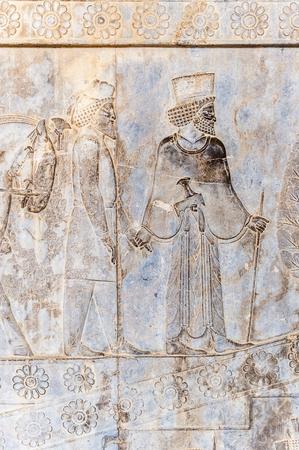 Draws on the walls of the ancient city of Persepolis, Iran. UNESCO World heritage site