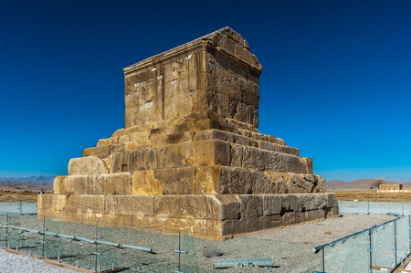 Tomb of Cyrus the Great, the burial place of Cyrus the Great of Persia. Pasargadae,