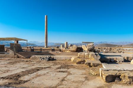 Ruins of the Ancient Persian city of Pasargad, Iran.