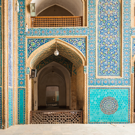 Entrance of the Jame Mosque of Yazd, Iran