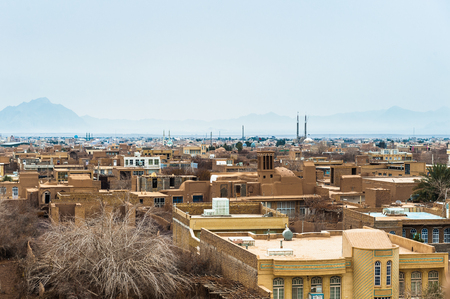 Town of Meybod, Iran. View from the Narin Qal'eh or Narin Castle