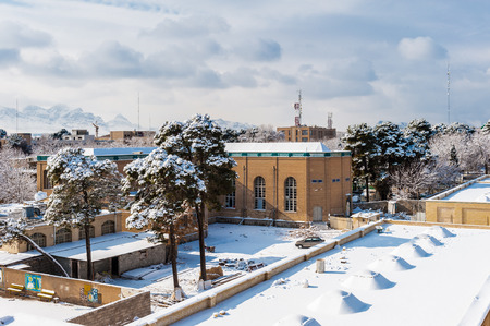 WInter in Isfahan, Iran. View fron the Ali Qapu palace
