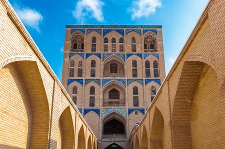 Road to the Ali Qapu Palace, a grand palace in Isfahan, Iran Editorial