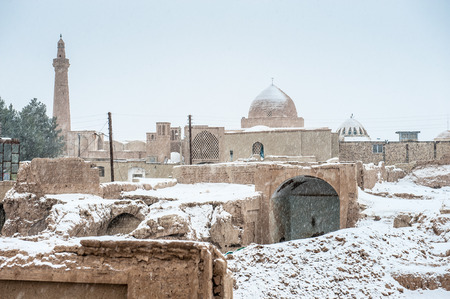 Old city of Nain in Iran in winter