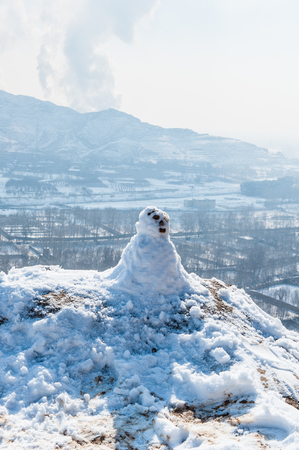 Snow man in Iran