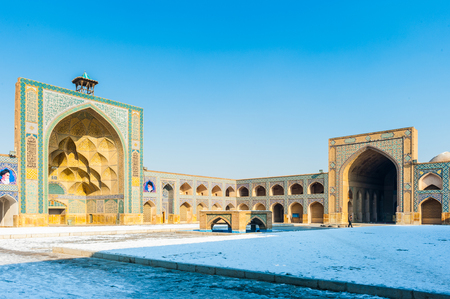 Interior of the Jameh Mosque of Isfahan, Iran. UNESCO World Heritage site