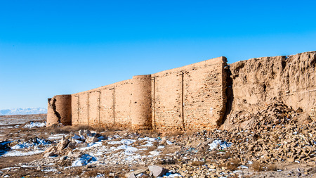 Almost destroyed Caravanserai in Isfahan province, Iran