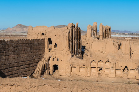 Panorama of an abandoned village in Iran, province of Isfahan