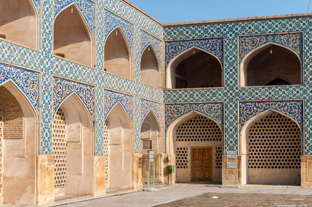 Ornaments of the Jameh Mosque of Isfahan, Iran. UNESCO World Heritage site Editorial