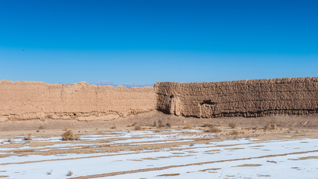 Iranian province of Isfahan, abandoned village called Murche Hort in winter. Reklamní fotografie