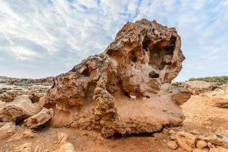 Rock formations on the Socotra Island, Yemen. Stock Photo