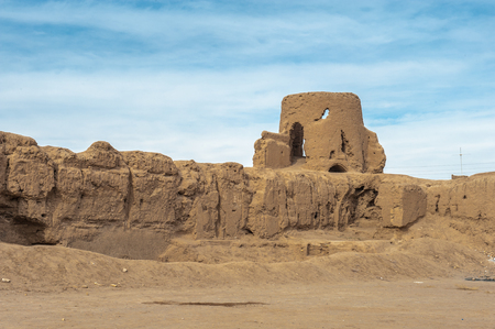 Clay fortress ruins in Kashan province of Iran