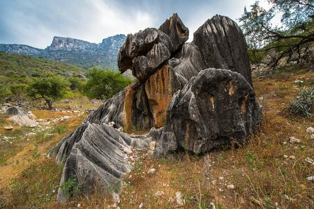 Rock formations on the Soqotra Island, Yemen Stock Photo
