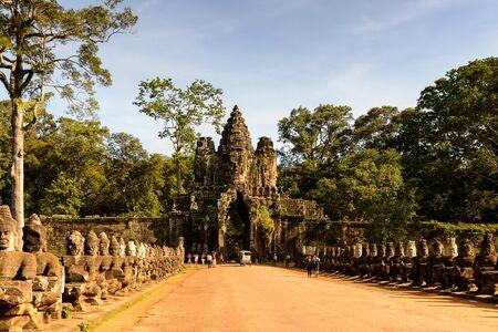 Gate into Angkor Thom Stock Photo