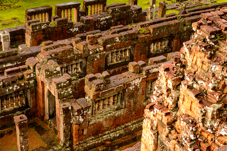Pre Rup, a temple at Angkor, Cambodia, the state temple of Khmer king Rajendravarman. It is a temple mountain made of brick, laterite and sandstone construction. Stock Photo