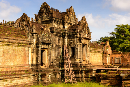 Banteay Samre, a temple at Angkor, Cambodia. It's named after the Samre, an ancient people of Indochina 版權商用圖片