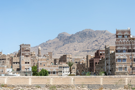 Architecture of Sanaa, the capital of Yemen.