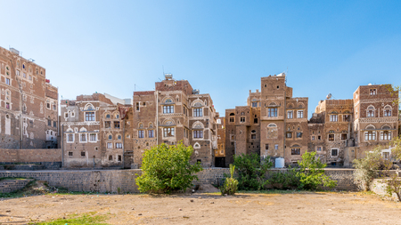 Architecture of the Old Town of Sanaa, Yemen. UNESCO World heritage Editorial